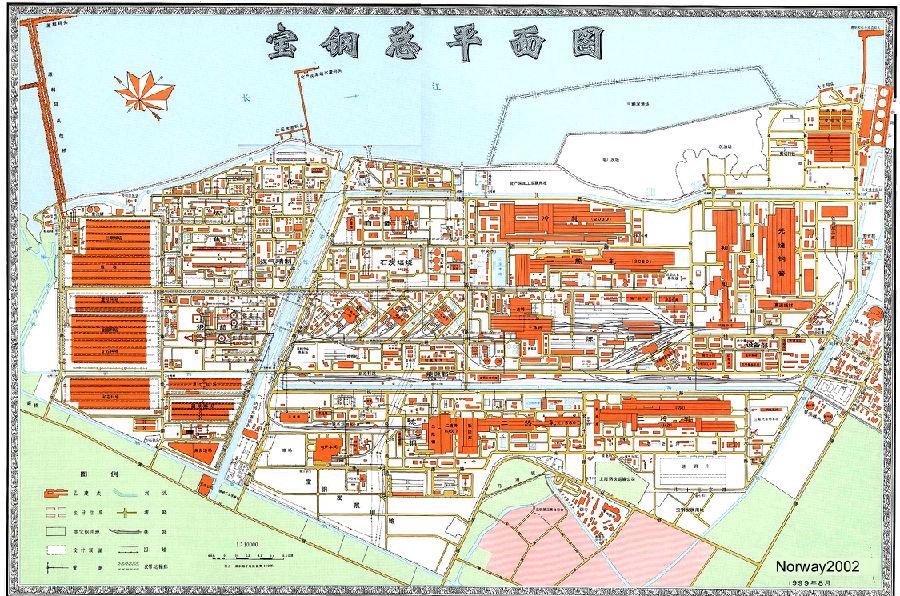 宝钢厂区地图
